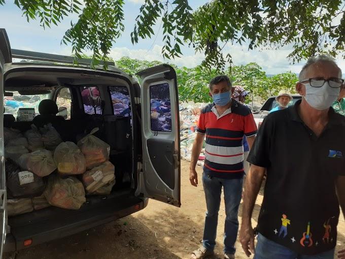 """CDL Crato entrega 50 cestas básicas arrecadadas na campanha """"Solidariedade é um Prato Cheio"""""""