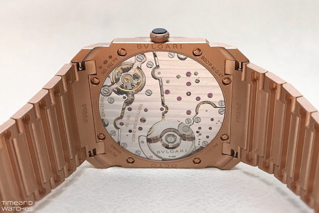Bulgari Octo Finissimo Automatic Sandblasted, the movement