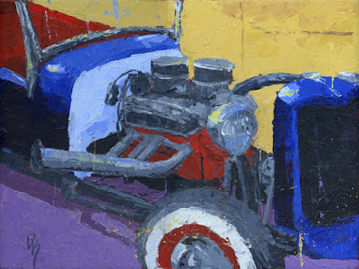 art painting knife hot rod roadster automotive
