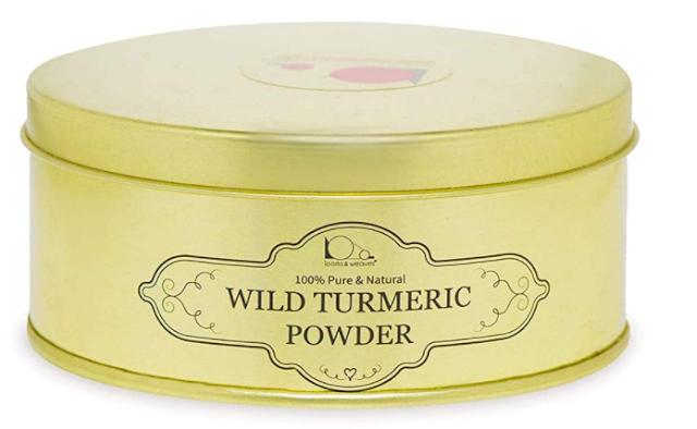 looms & weaves - Ayurvedic Natural Wild Turmeric Powder 100 Gram (Curcuma Aromatica/Jangli Haldi/Kasthuri Manjal) (Newly Packed in ECO Friendly Container)