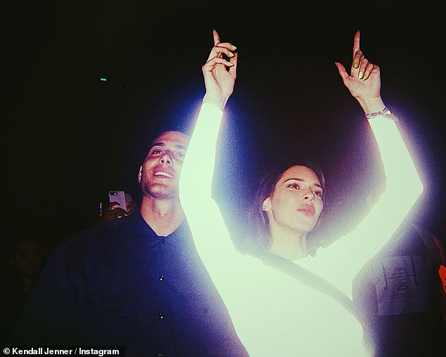 Kendall Jenner puts on a luminescent display as she cosies up to Hailey Bieber in throwback snaps