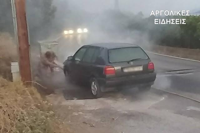 Πυρκαγιά σε αυτοκίνητο στην Παλαιά Επίδαυρο