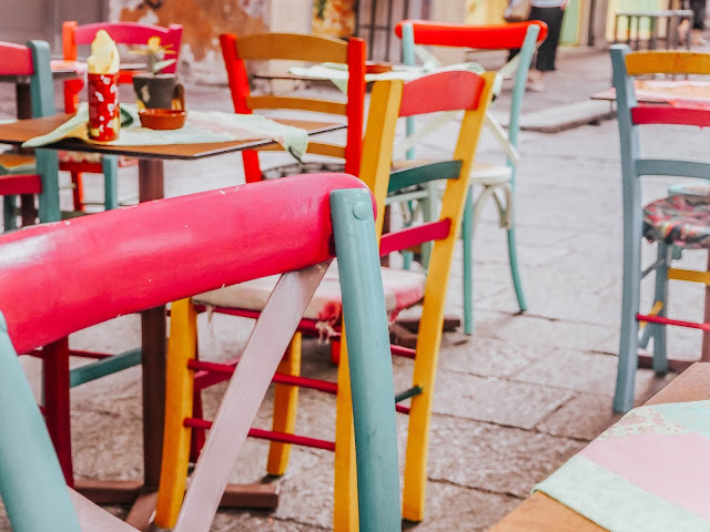 Restaurant Summer Colourful Dining Chairs