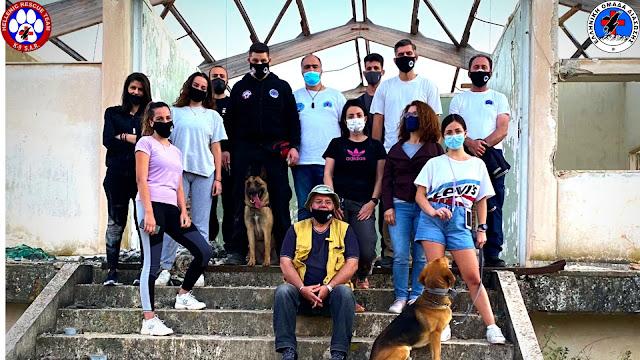 """Εκπαίδευση έρευνας αγνοουμένων με τον """"Δία"""" της Ελληνικής Ομάδας Διάσωσης Αργολίδας"""