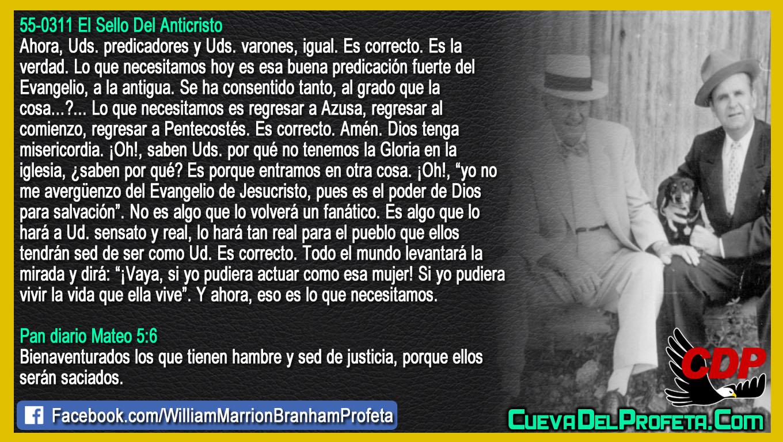 Si yo pudiera vivir la vida que ella vive - William Branham en Español