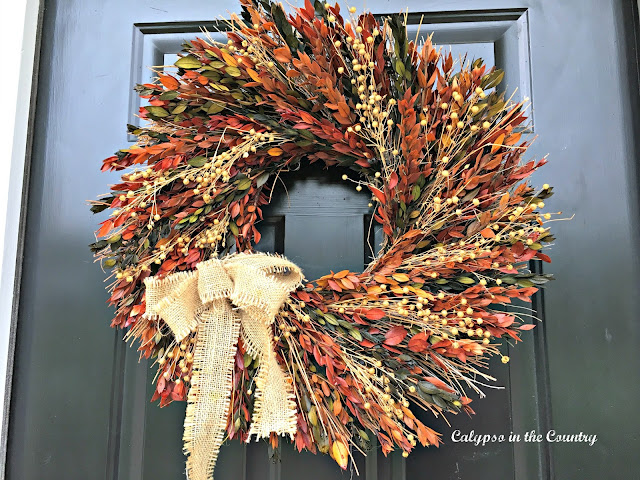 Fall wreath - my experience using a dried wreath outside