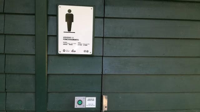 Horário de foncionamento das Casas de banho da Praia Fluvial e parque das Taipas
