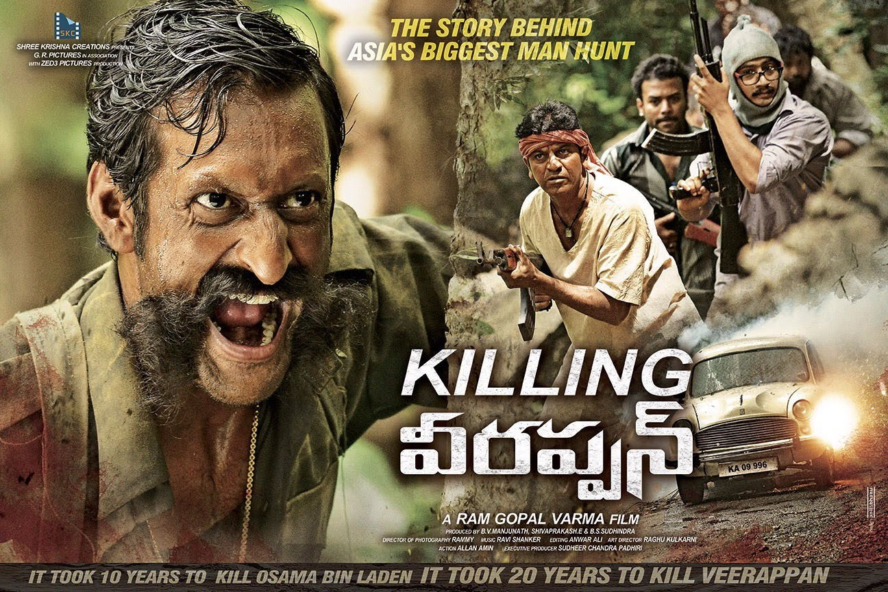 full cast and crew of bollywood movie Killing Veerappan! wiki, story, poster, trailer ft Shivaraj Kumar, Sandeep Bharadwaj, Yagna Shetty, Sanchari Vijay, Parul Yadav