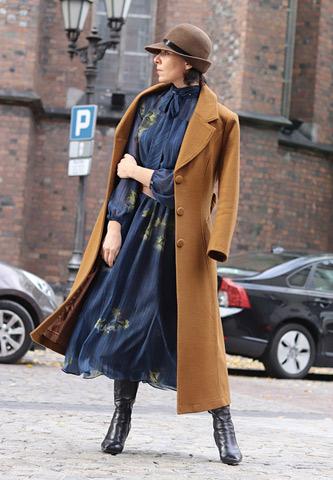 jesienne stylizacje sukienki