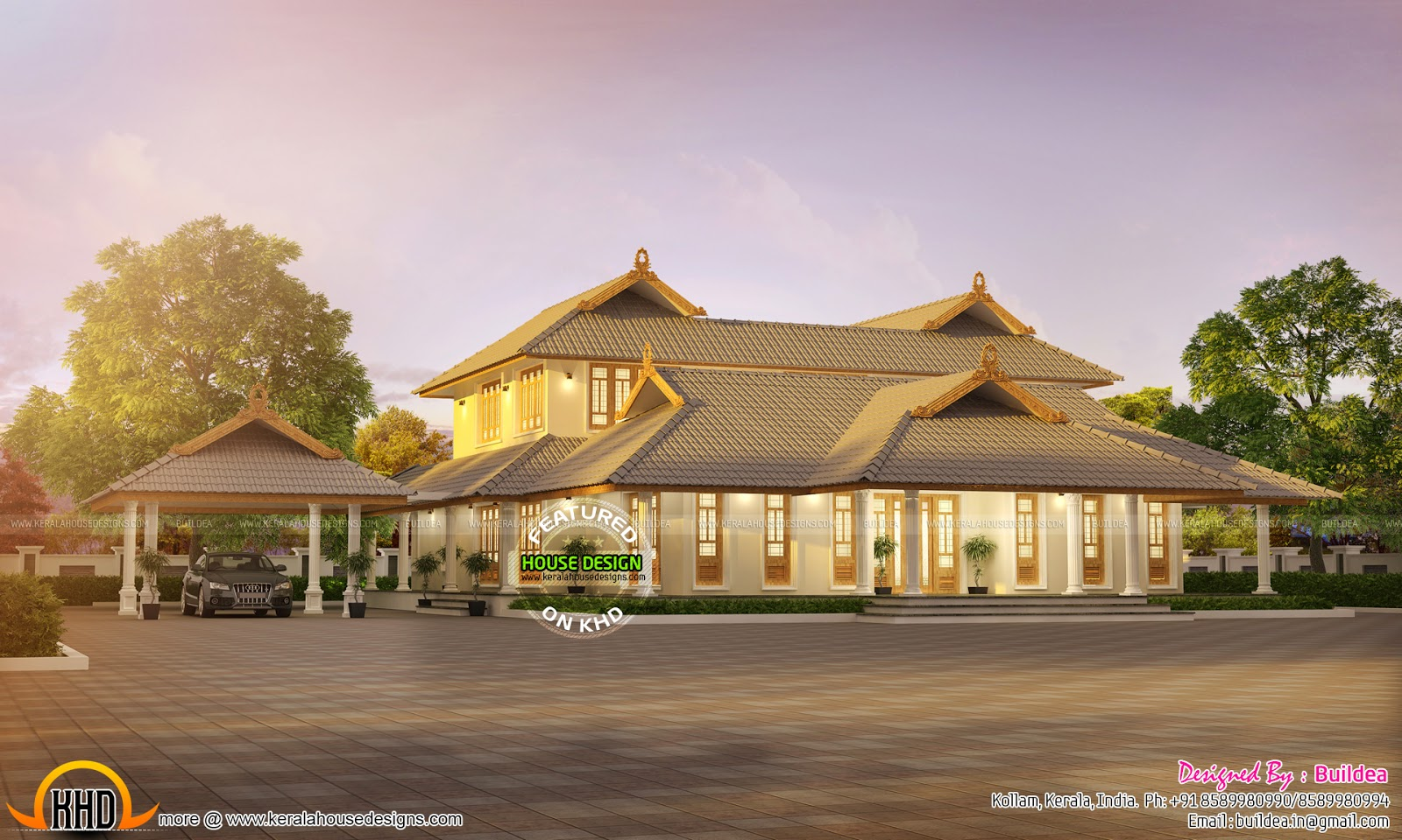 Stunning kerala home kerala home design and floor plans for House plans with photos in kerala style