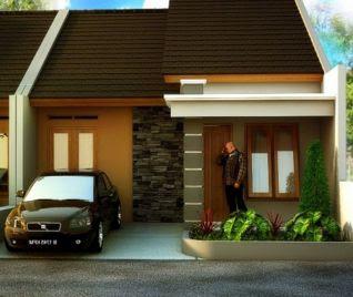 model atap rumah kecil type 36