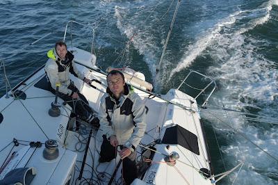Adrien Hardy et Thomas Ruyant sur la Transat AG2R 2018