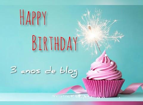 Bday: 3 anos de blog
