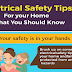 Electrical Safety Tips For your Home What You Should Know #infographic