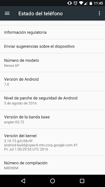 Nexus 6P user accidentally gets Android Nougat 7.0 Update
