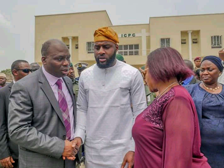 Photos of Oyo State Speaker, Rt. Hon. Adebo Ogundoyin and Others at The Commissioning of ICPC Complex in Oyo State teelamford