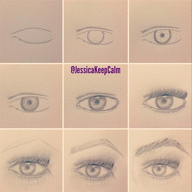 Como Desenhar Olho Passo A Passo
