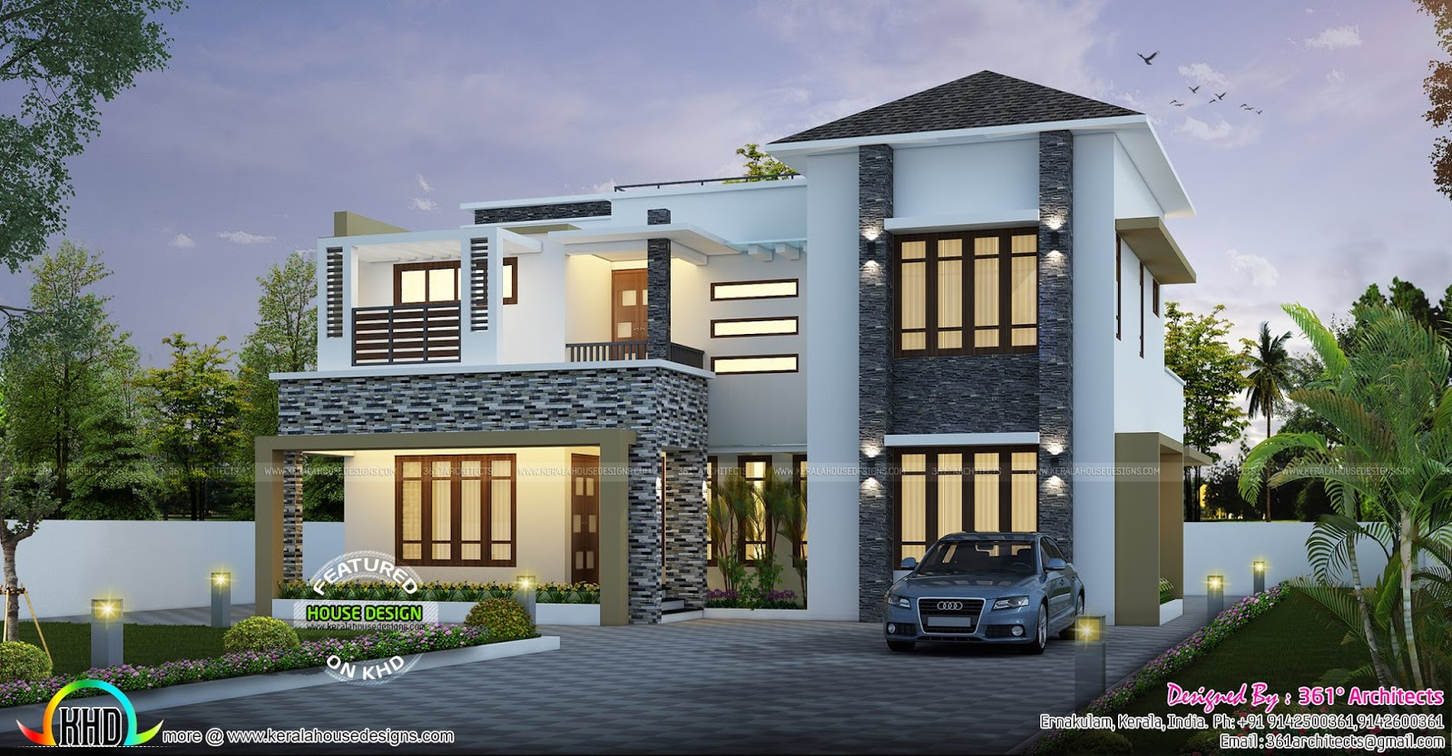 2403 Sq Ft Modern Contemporary Home Kerala Home Design