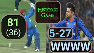 Afghanistan vs Ireland 3rd T20I 2019 Highlights