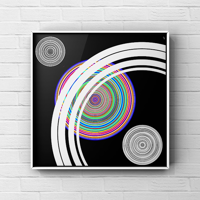abstract art, mark taylor, concentric art, conical art,