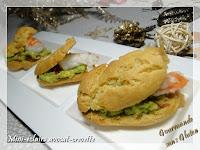 Mini-éclairs avocat - crevettes, sans gluten, sans lactose