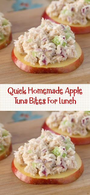 Quick Homemade Apple Tuna Bites For Lunch