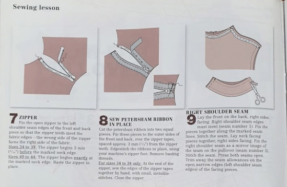 photo of sewing instructions from Burda magazine