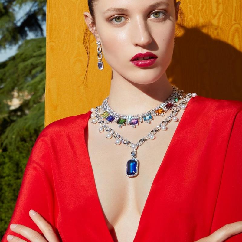 Bulgari showcases colorful gems in Barocko High Jewelry campaign.