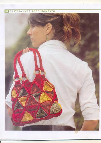 Bolso Triangulos de Crochet