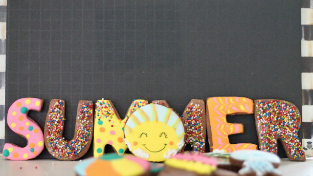 Summer cookie decorating class @thecookiecouture.com
