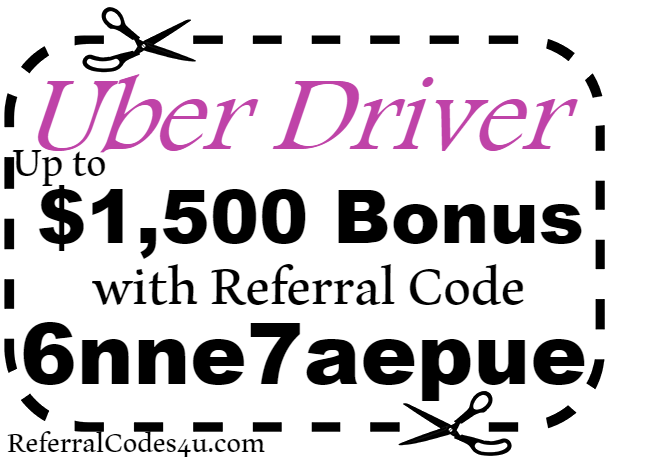 Uber Driver Referral Code 2018