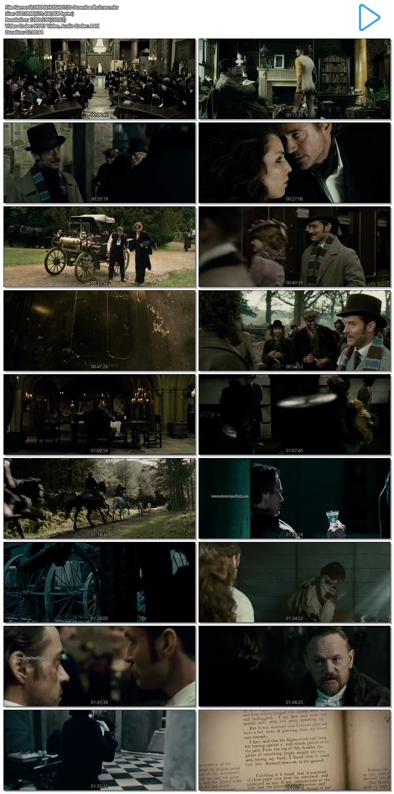 Sherlock Holmes A Game of Shadows 2011 Hindi Dual Audio 720p HEVC BluRay Free Download