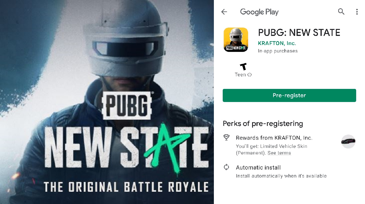 PUBG New State Game Pre-registrations live on Google Play Store