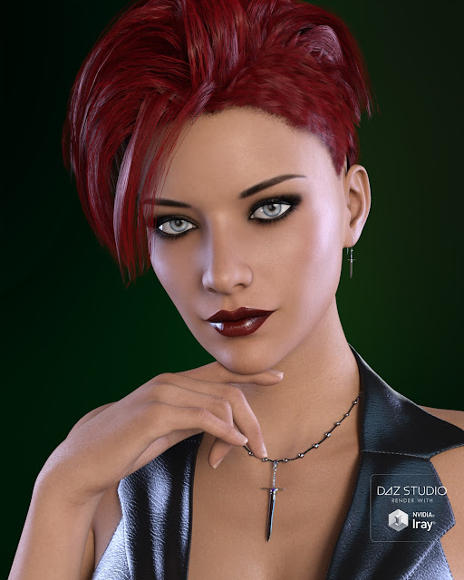 Skullduggery Jewelry for Genesis 3 Female