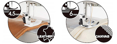 Maquina de coser piel domestica