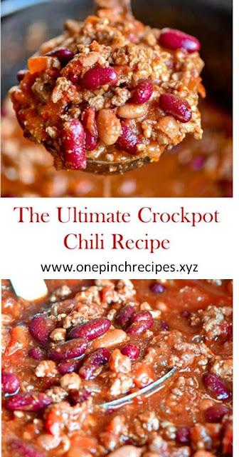 The Ultimate Crockpot Chili Recipe #Chili #crockpotchili #slowcookerchilirecipe