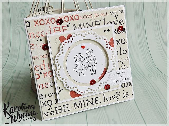 Miłosna kartka ślubna