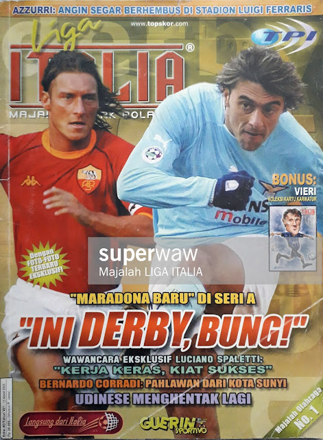 ROMA DERBY FRANCESCO TOTTI VS CLAUDIO LOPEZ