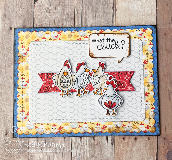 What the Cluck? Chicken Card by Holly Endress   Cluck Stamp Set by Newton's Nook Designs #newtonsnook #handmade