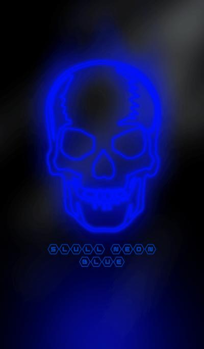 SKULL NEON BLUE