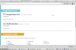 Cara membuat Web CV Dinamis dengan menggunakan Laravel + Source Code