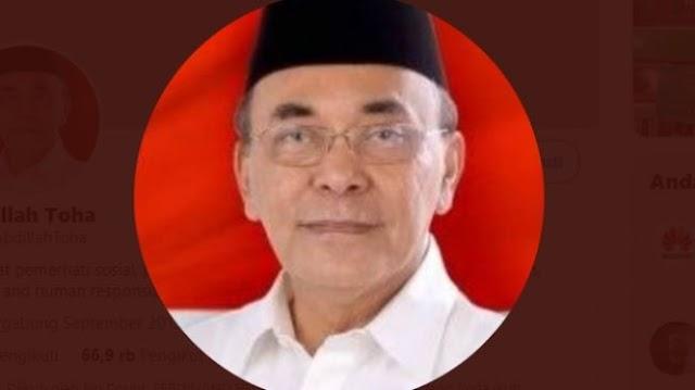 Abdillah Toha Sebut Otak Pembenci Jokowi Manusia Sudah Rusak