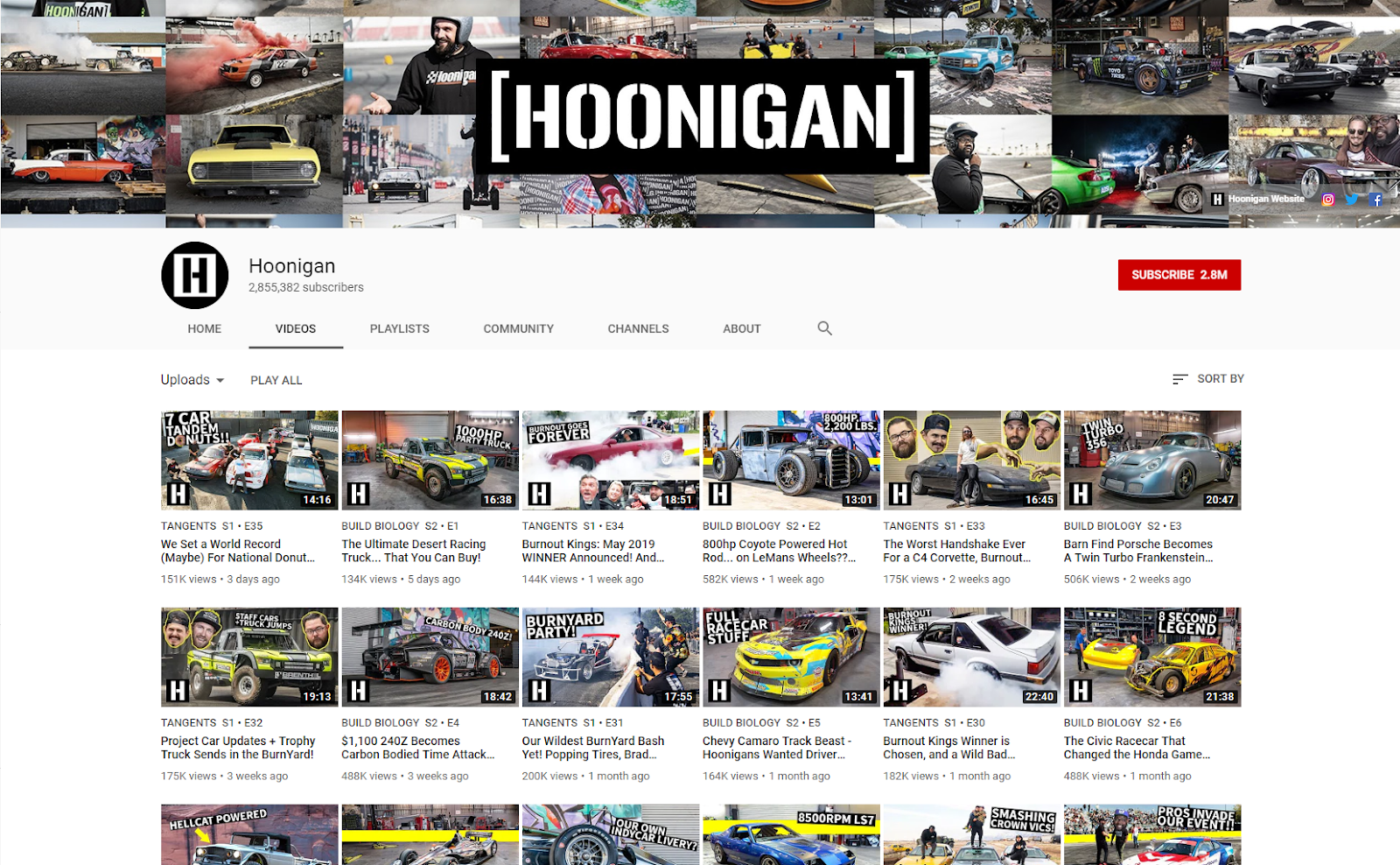 Hoonigan YouTube hoonigan .com