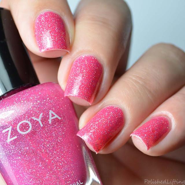 pink holographic nail polish