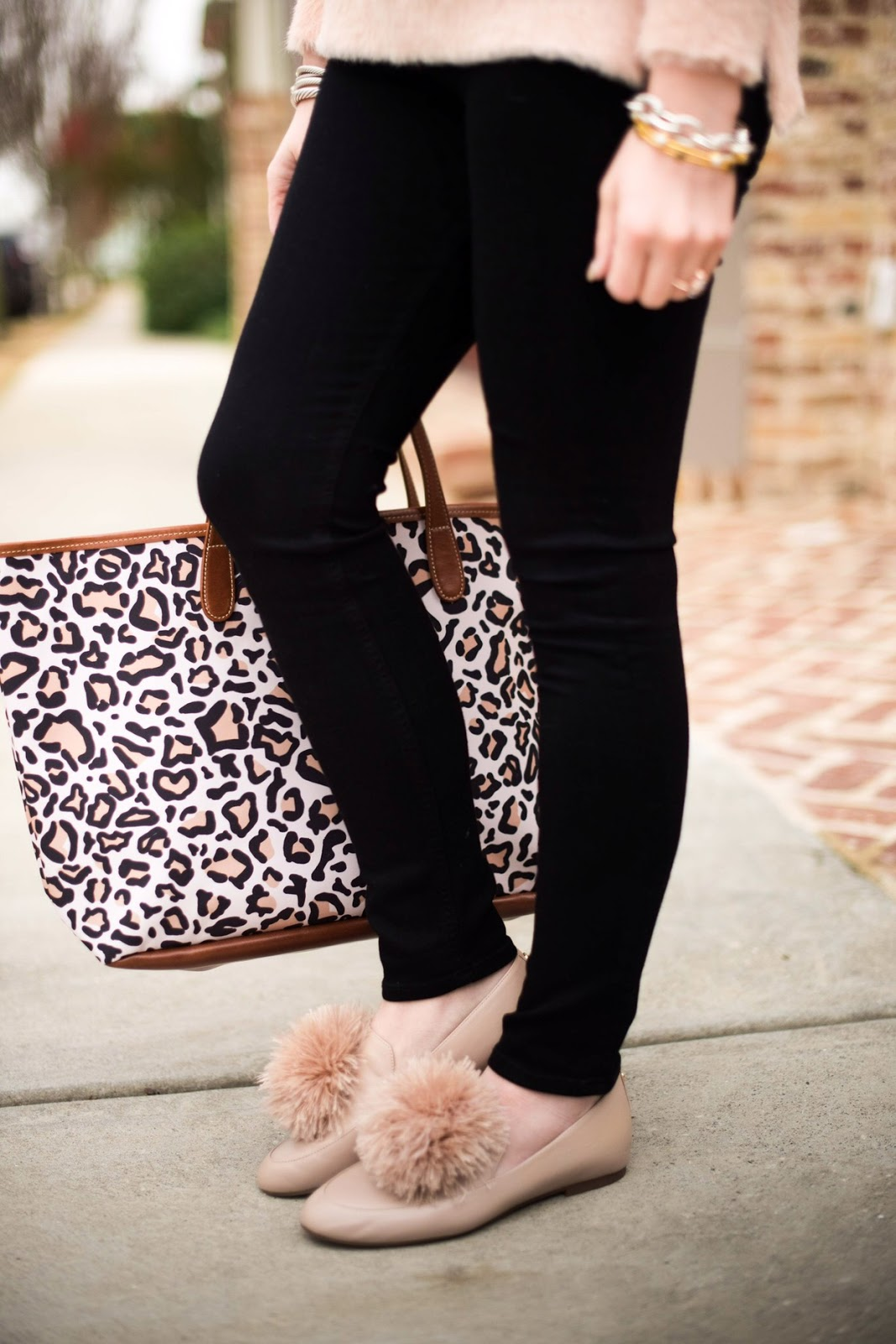Faux Fur Pom Flats - SOMETHING DELIGHTFUL BLOG