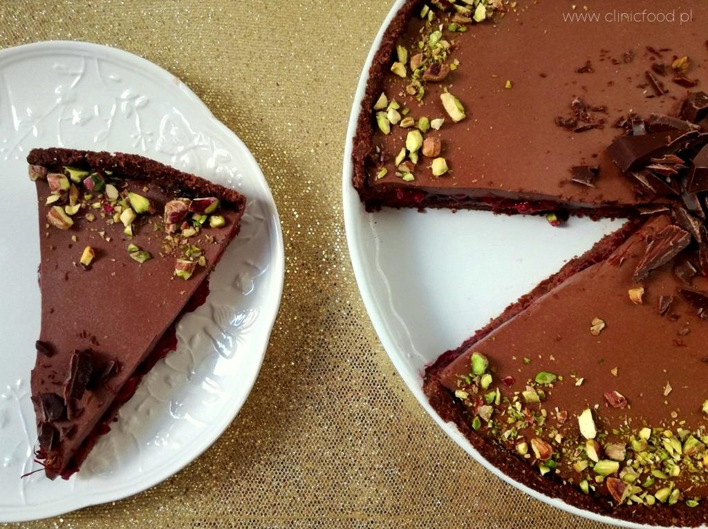 Tarta czekoladowa z frużeliną wiśniową
