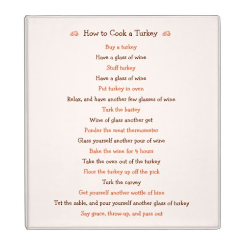 How To Cook A Turkey | Funny Thanksgiving Recipe Binder