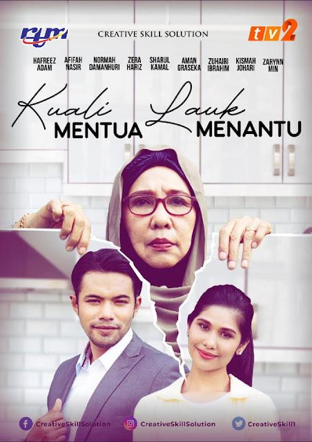 Drama Kuali Mentua Lauk Menantu, Drama Bulan Ramadan TV2, Poster Drama Kuali Mentua Lauk Menantu, Info dan Sinopsis Drama Kuali Mentua Lauk Menantu,