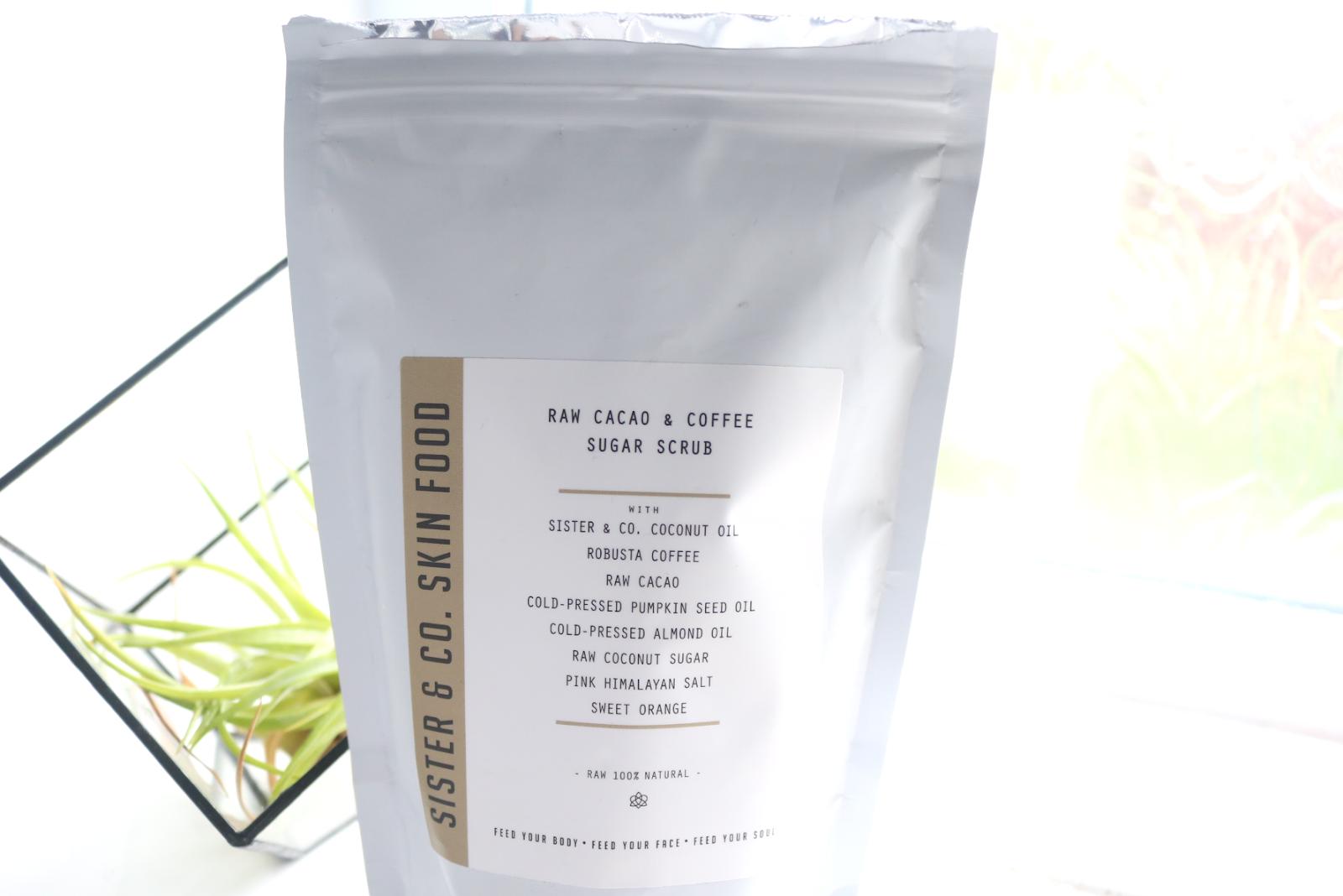 Sister & Co Raw Cacao & Coffee Sugar Scrub review