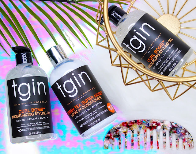 Working Out with tgin's NEW Curl Bomb Styling Gel + Smooth & Hold Edge Control